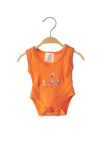 Body lingerie orange SANS MARQUE pour enfant