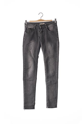 Jeans skinny gris FAAILI pour femme