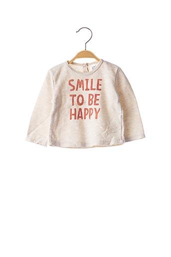 T-shirt manches longues beige ZARA pour enfant