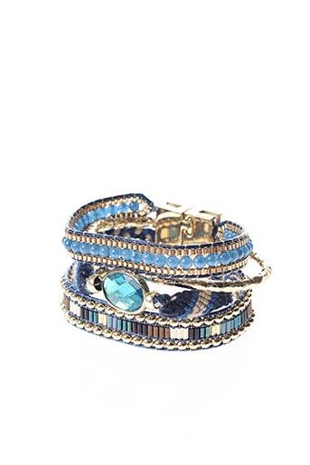 Bracelet Manchette bleu HIPANEMA pour femme