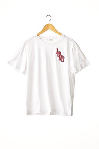 T-shirt manches courtes blanc SANDRO pour femme