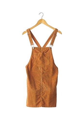 Robe courte marron DENIM CO pour femme