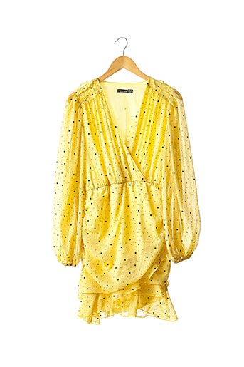 Robe mi-longue jaune BOOHOO pour femme