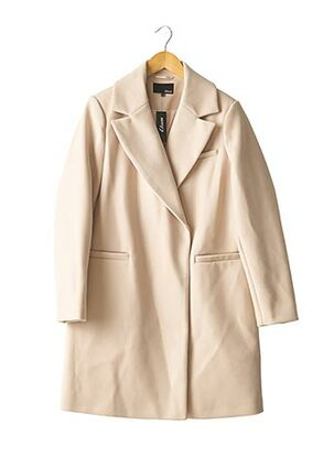 Manteau long beige ETAM pour femme