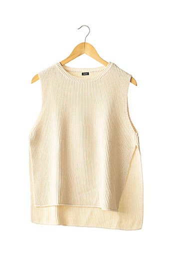 Pull col rond beige AOSTA pour femme
