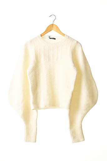 Pull col rond beige WANDERING pour femme