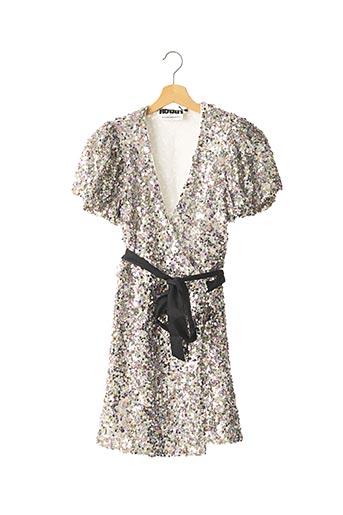 Robe courte gris ROTATE pour femme
