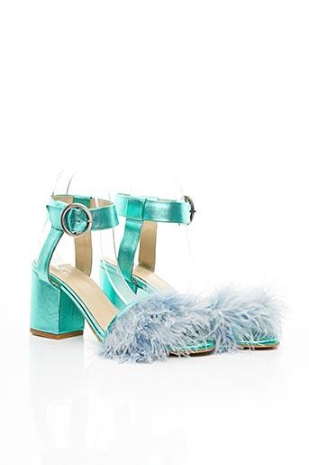 Sandales/Nu pieds bleu MAISON PÈRE pour femme