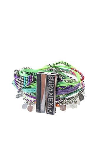 Bracelet Manchette vert HIPANEMA pour femme