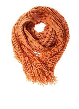 Echarpe orange LUISA CERANO pour femme