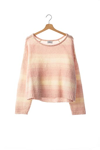 Pull col rond rose CACHAREL pour femme