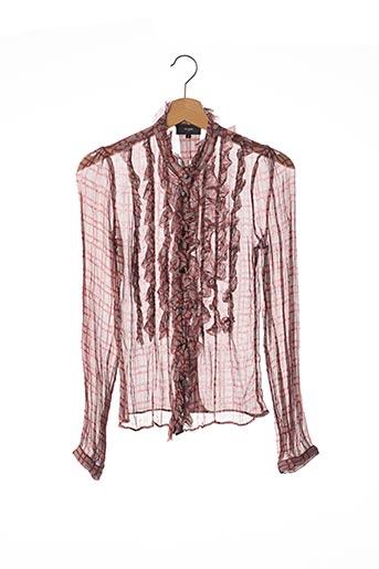 T-shirt manches longues rouge ET VOUS pour femme