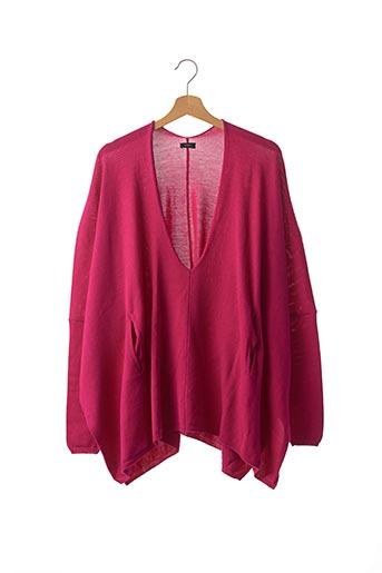 Pull tunique rose JOSEPH pour femme
