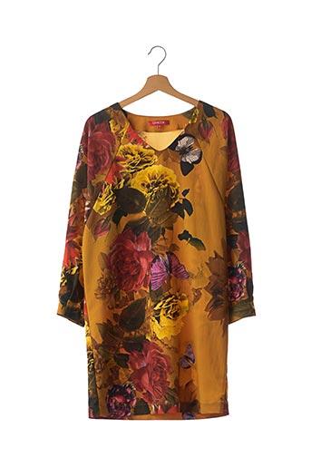 Robe mi-longue jaune CHACOK pour femme