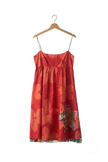 Robe mi-longue rouge CHACOK pour femme