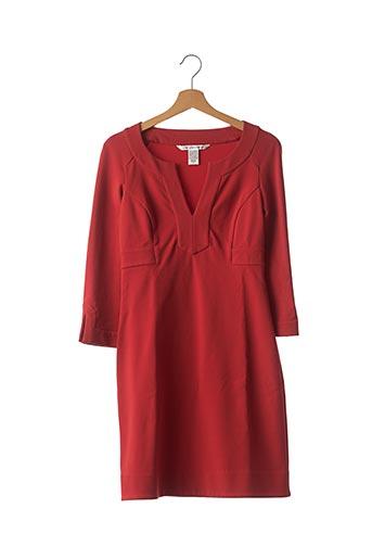 Robe mi-longue rouge DIANE VON FURSTENBERG pour femme