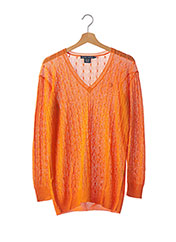Pull col V orange RALPH LAUREN pour femme seconde vue