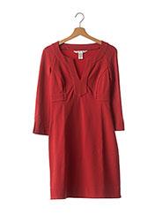 Robe mi-longue rouge DIANE VON FURSTENBERG pour femme seconde vue