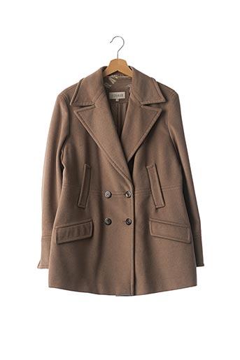 Manteau long marron FERAUD pour femme