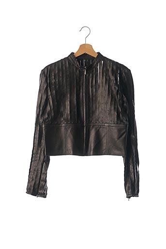 Veste en cuir noir CHATEAU NOIROT pour femme