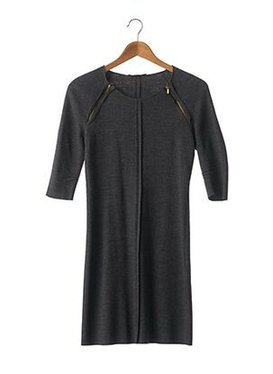 Robe pull gris MAJE pour femme