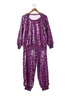 Top/pantalon violet SONIA RYKIEL pour femme