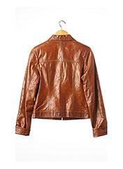 Veste en cuir marron JUST CAVALLI pour femme seconde vue