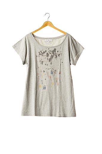 T-shirt manches courtes gris DESIGNERS REMIX COLLECTION pour femme