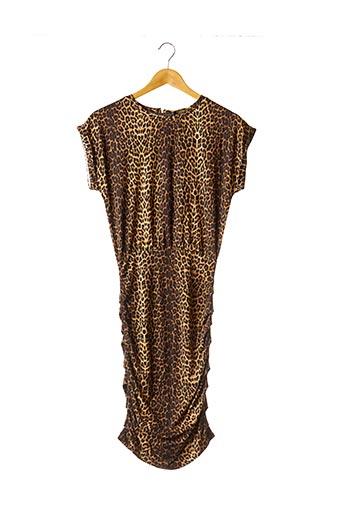 Robe mi-longue marron MAJE pour femme