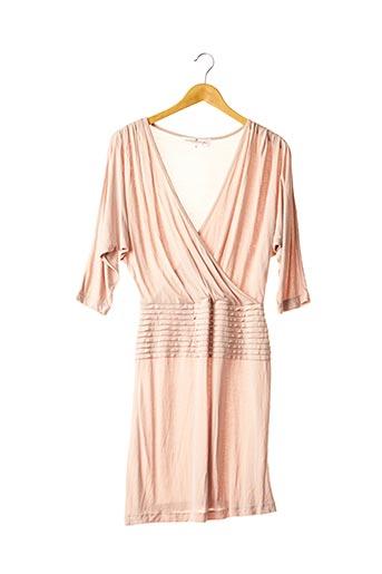 Robe mi-longue rose DESIGNERS REMIX COLLECTION pour femme