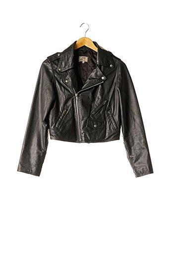 Veste en cuir noir JEAN PAUL GAULTIER pour femme