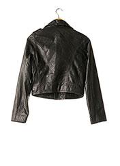 Veste en cuir noir JEAN PAUL GAULTIER pour femme seconde vue