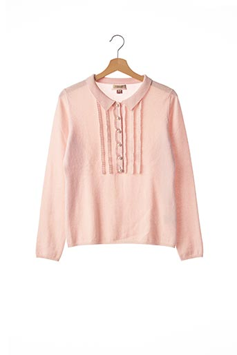 Pull col chemisier rose BURBERRY pour femme