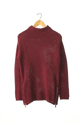 Pull tunique rouge MAISON SCOTCH pour femme