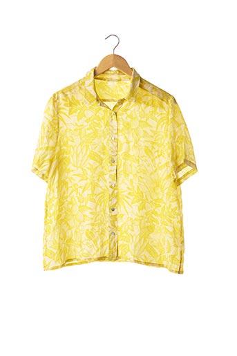 Blouse manches courtes jaune AMERICAN VINTAGE pour femme