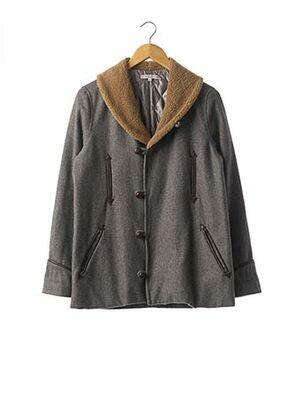 Manteau court gris PAUL & JOE pour femme