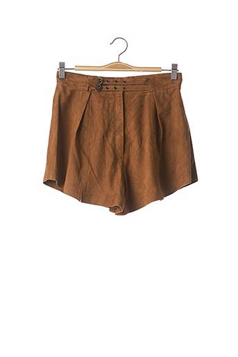 Short marron CLAUDIE PIERLOT pour femme