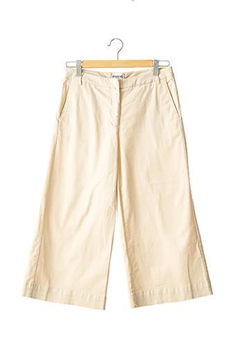 Pantalon casual beige ESSENTIEL ANTWERP pour femme