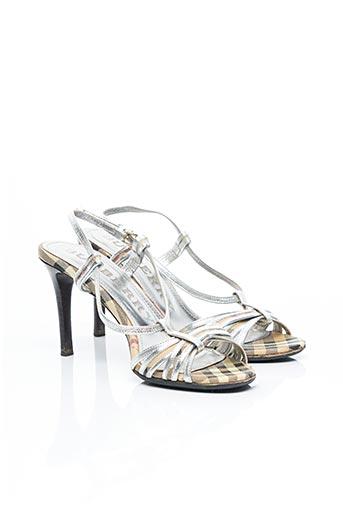 Sandales/Nu pieds beige BURBERRY pour femme