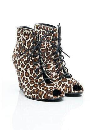Bottines/Boots beige AMERICAN RETRO pour femme