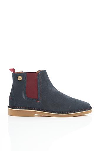 Bottines/Boots bleu FAGUO pour homme