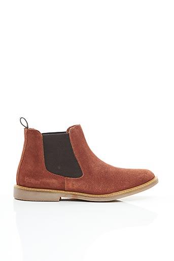 Bottines/Boots orange KICKERS pour homme