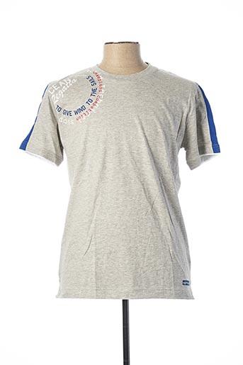 T-shirt manches courtes gris JULIPET pour homme