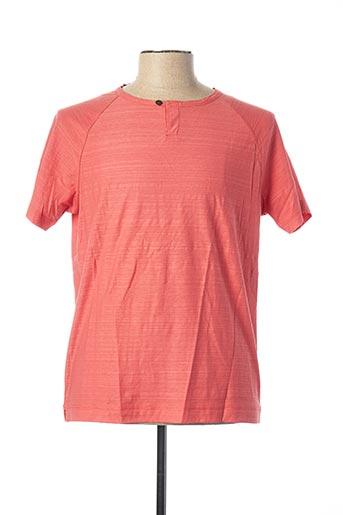 T-shirt manches courtes orange JULIPET pour homme