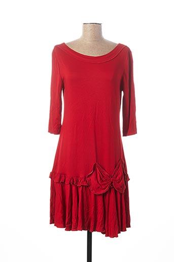 Robe mi-longue rouge ELLA pour femme