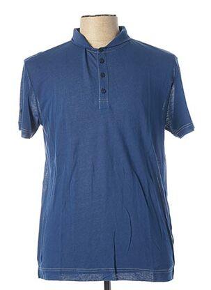 Polo manches courtes bleu JULIPET pour homme