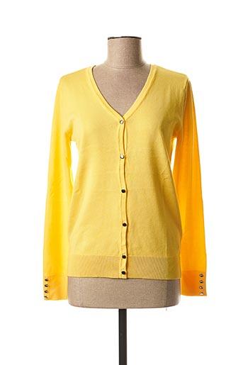 Gilet manches longues jaune BRANDTEX pour femme
