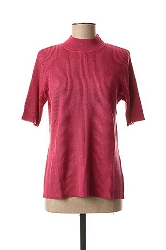 Pull col cheminée rose SIGNATURE pour femme