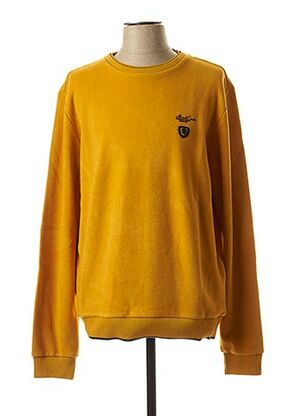 Pull col rond jaune MONTE CARLO pour homme