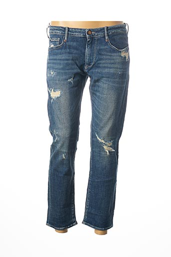 Jeans coupe droite bleu LE TEMPS DES CERISES pour femme